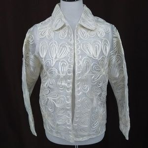 New Laura Ashley M Petite Blazer Jacket Ivory